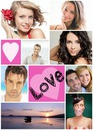 Love photo montage frame 8 pictures