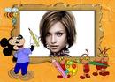 Children frame Mickey Ants