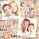 2 polaroids on vintage love background