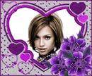 Corazón ♥ Flores violeta