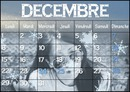 Calendar December 2014 Snowflakes