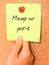 Message on post-it