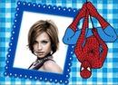 Children frame Spiderman