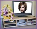 LCD Flat screen Bunch of flowers Scene