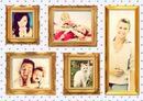 Cuadros Retrato de familia 5 fotografias
