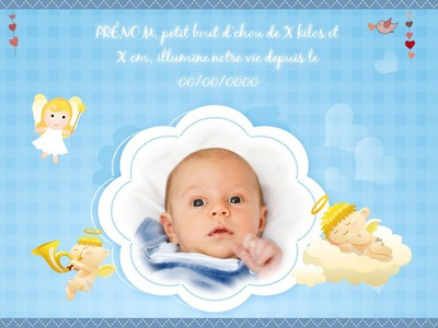 Montage photo naissance b b pixiz - Fotos van de bebe garcon ...