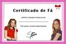 certificado de fã top 10