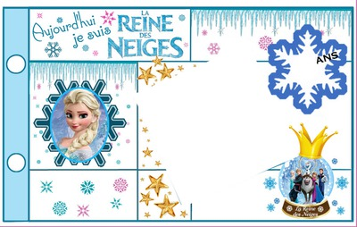 montage photo carte anniversaire elsa reine des neiges pixiz. Black Bedroom Furniture Sets. Home Design Ideas