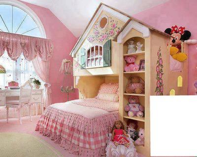 Montage photo chambre petite fille sage pixiz - Chambre de petite fille ...