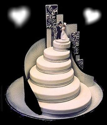 Photo montage Gateau de mariage - Pixiz