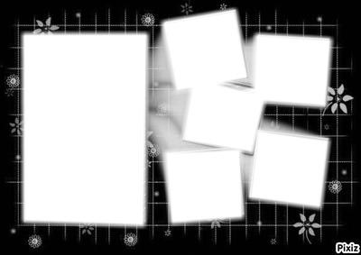Montage photo cadre noir et blanc pixiz for Cadre noir et blanc